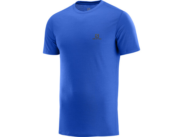 Salomon X Wool T-shirt Homme, nautical blue